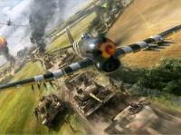 des Typhoons anglais attaquent un convoi de renforts allemands (Normandie 1944)