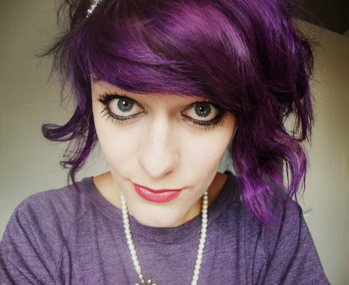purple hairstyles for purple hair - Coloration Cheveux Violet