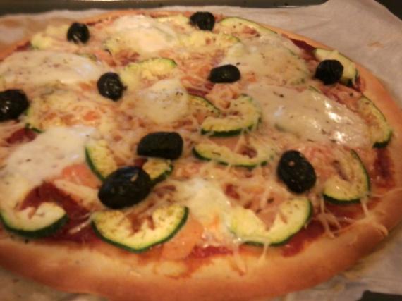 courgette truite olive mozza gruyère