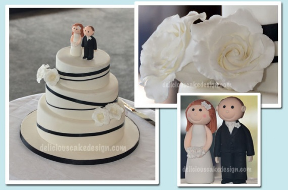 wedding_cake_ivory_black_ribbons_sugar_bride_groom_white_roses