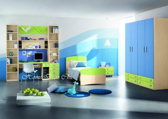 chambre-garcon-vert-et-bleu
