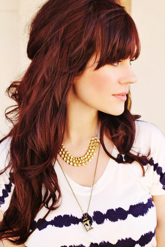 Couleur cheveux reflet roux