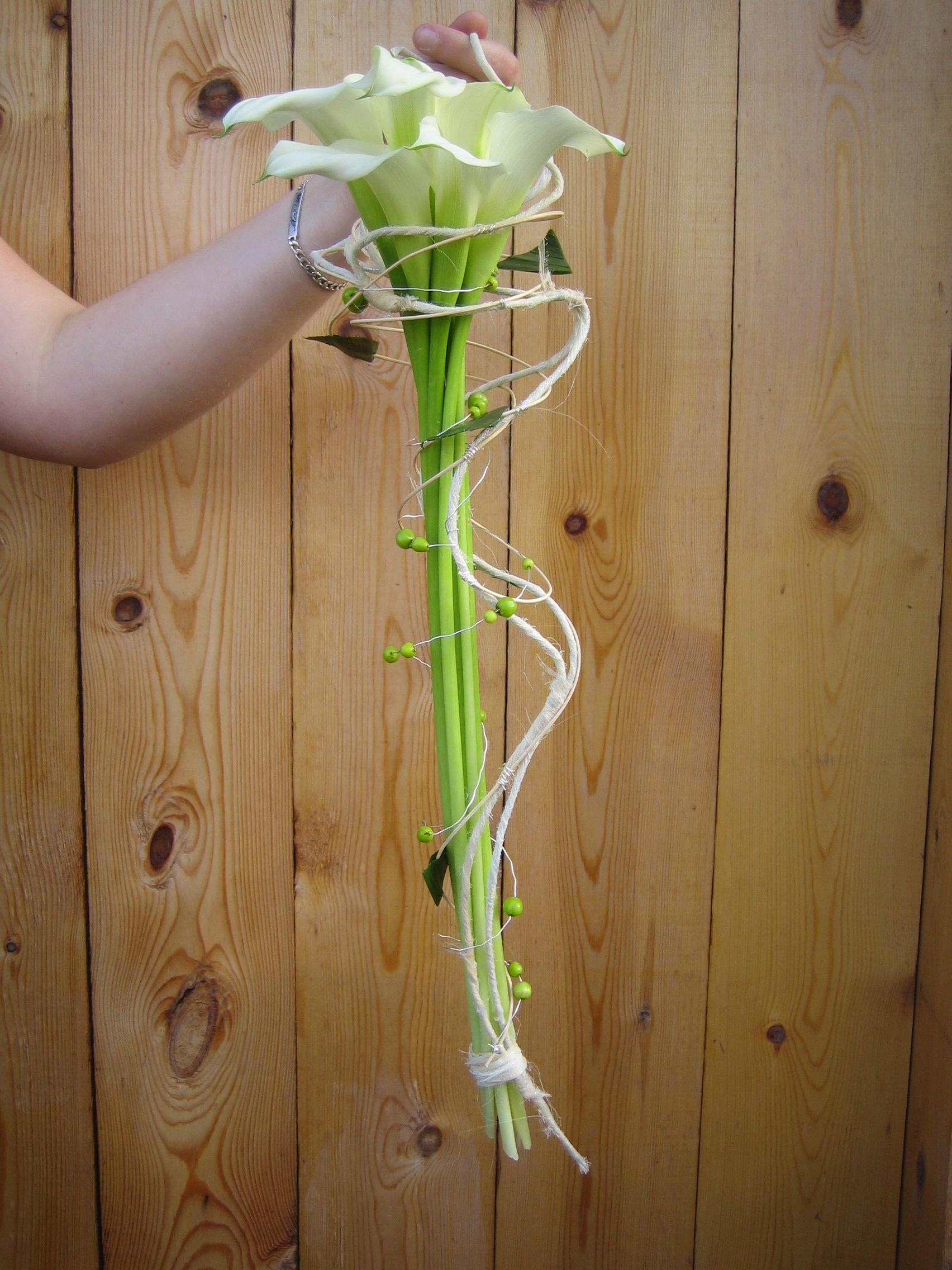 bouquet de mari e calla cr ations florales nochaga. Black Bedroom Furniture Sets. Home Design Ideas