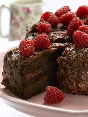 gateau-chocolat-ganache-framboise