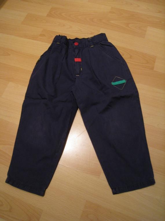 pantalon fin bleu marine, 1,50 euros