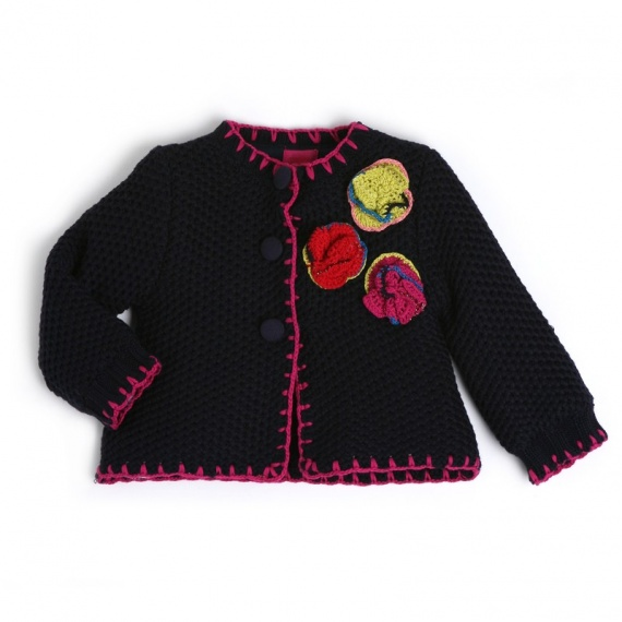 inviti mar se manteau b b fille bleu profond tricot fille marese hiver 2012 bebe et kid. Black Bedroom Furniture Sets. Home Design Ideas
