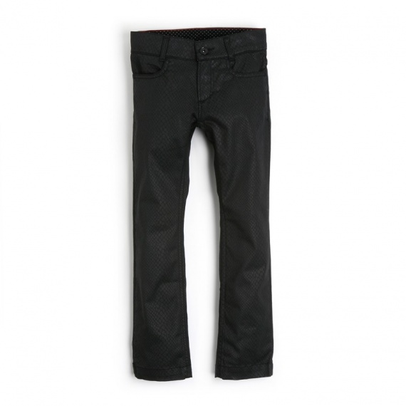 NILIENNE Ooxoo - Pantalon Enfant Fille - Noir Rock