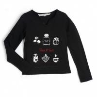 NURIEL Ooxoo - Tee-shirt ML Enfant Fille - Noir Rock