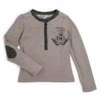 NALEDONIE Ooxoo - Tee-shirt ML Enfant Fille - Vert Leaves