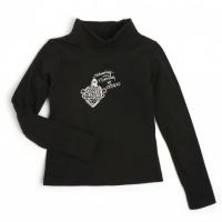 NIZILLE Ooxoo - Tee-shirt ML Enfant Fille - Noir Rock