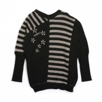 NUETTE Ooxoo - Pullover Enfant Fille - Noir Rock