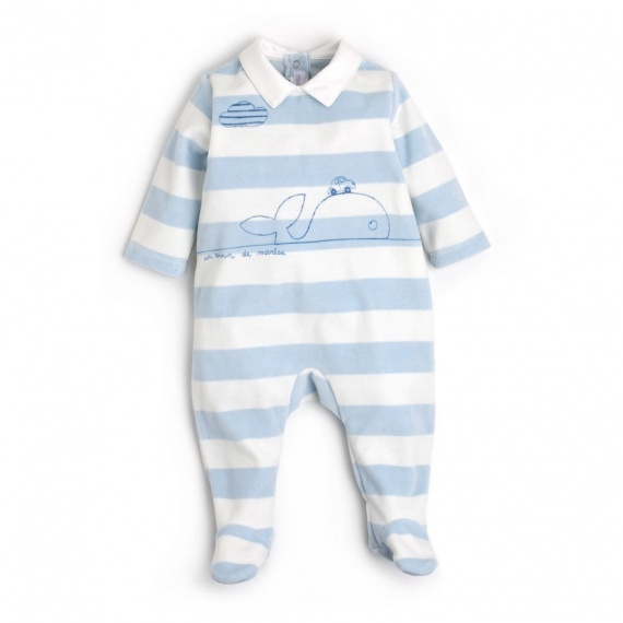 brebis mar se pyjama b b gar on bleu un amour de. Black Bedroom Furniture Sets. Home Design Ideas