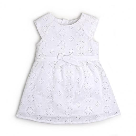 Robe blanc ceremonie bebe fille
