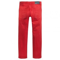 Pantalon PRETTI orange brique dos