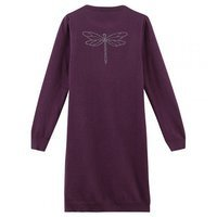 Robe tricot PLEVANIL violet dos