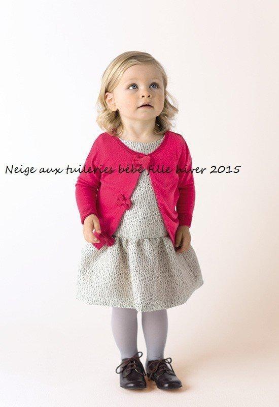 Neige aux tuileries bébé fille hiver 2015