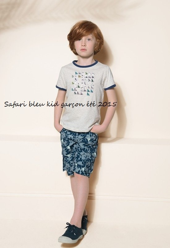 Safari bleu kid garçon été 2015