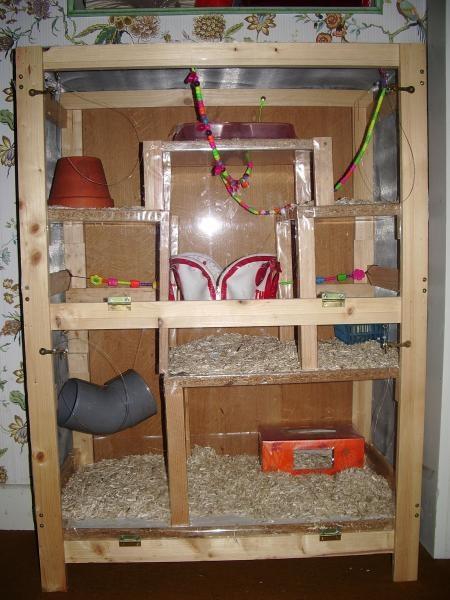 Photo cage chinchi fait maison nouveaux animaux de for Accessoire furet fait maison