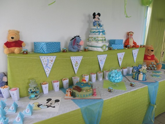 Bapt me theme b b disney 6 octobre 2013 bapt me - Photo idee deco bapteme garcon ...