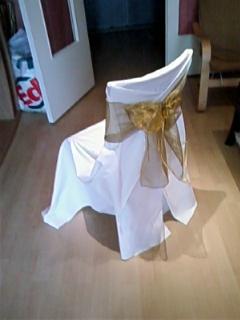 Housse blanche et or housses de chaise severinef38 - Chaise pour faire pipi ...
