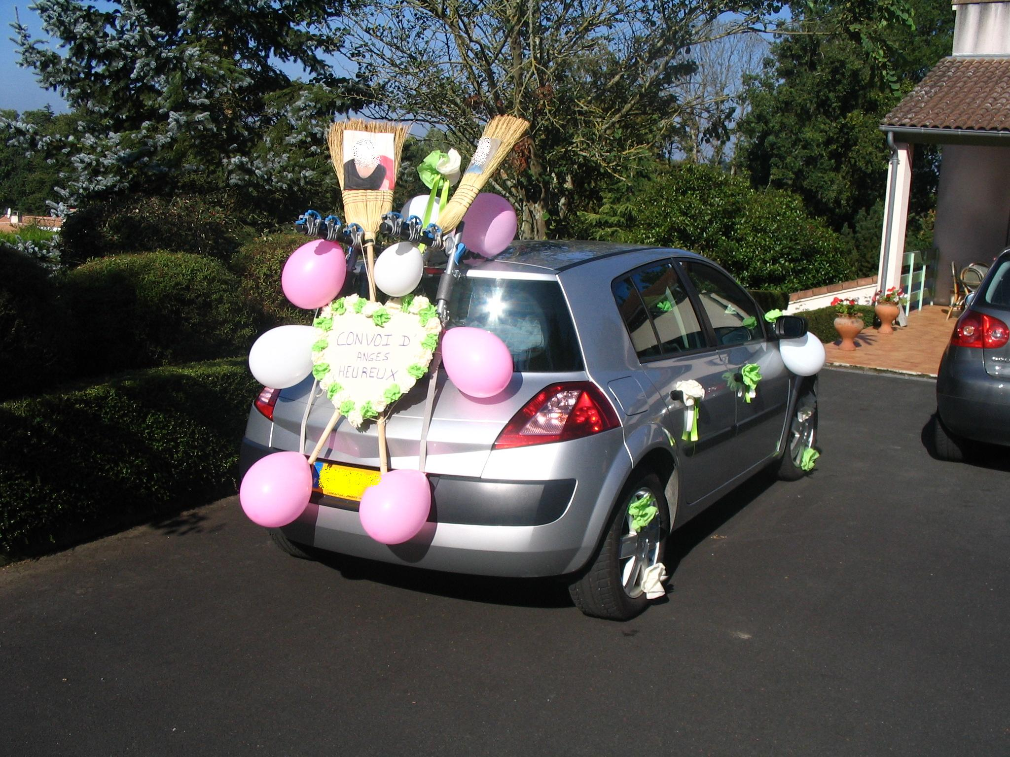 Kit voiture balai mariage