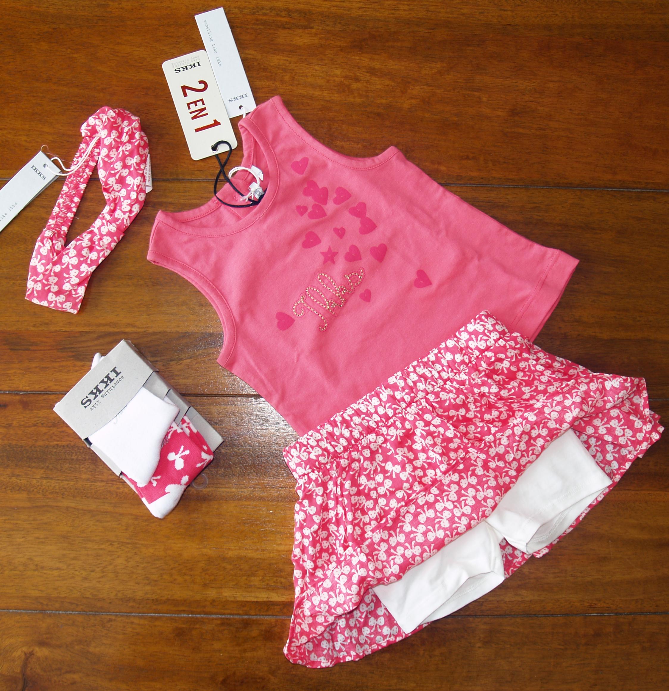 31fc449aa001 3 ans -ensemble jupe short bandeau chaussettes IKKS Baby Girls City Chic  2013