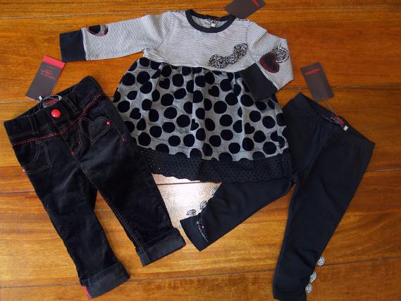 12 mois ensemble tunique à pois pantalon velours Catimini spirit city jenny's shop hiver 2013 2014