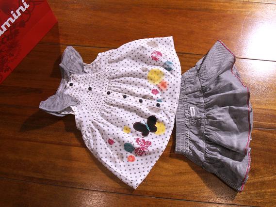 9 mois - Ensemble tunique et jupe-culotte catimini - été 2013