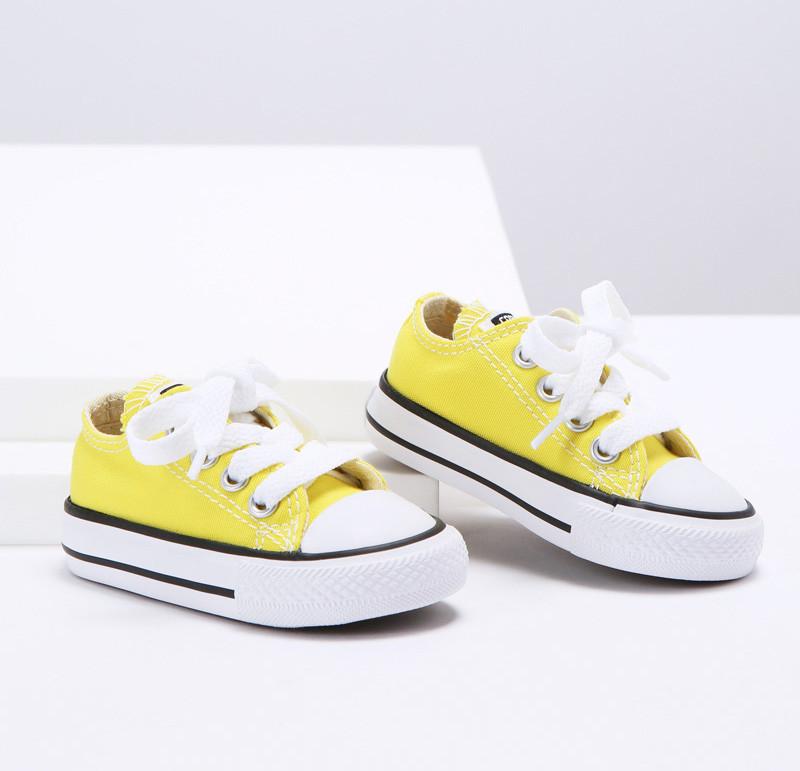 converse enfants fille jaune