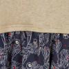 7-8 ANS - 3 POMMES Robe bi-matière Beige doré chiné et bleu marine