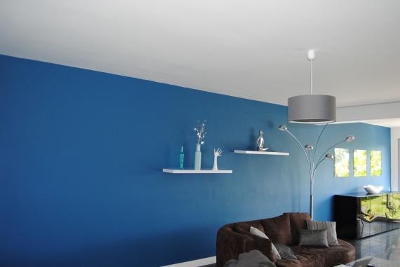du salon vers la partie salle manger with peinture paillete pour chambre - Peinture Gris Bleu Pour Chambre