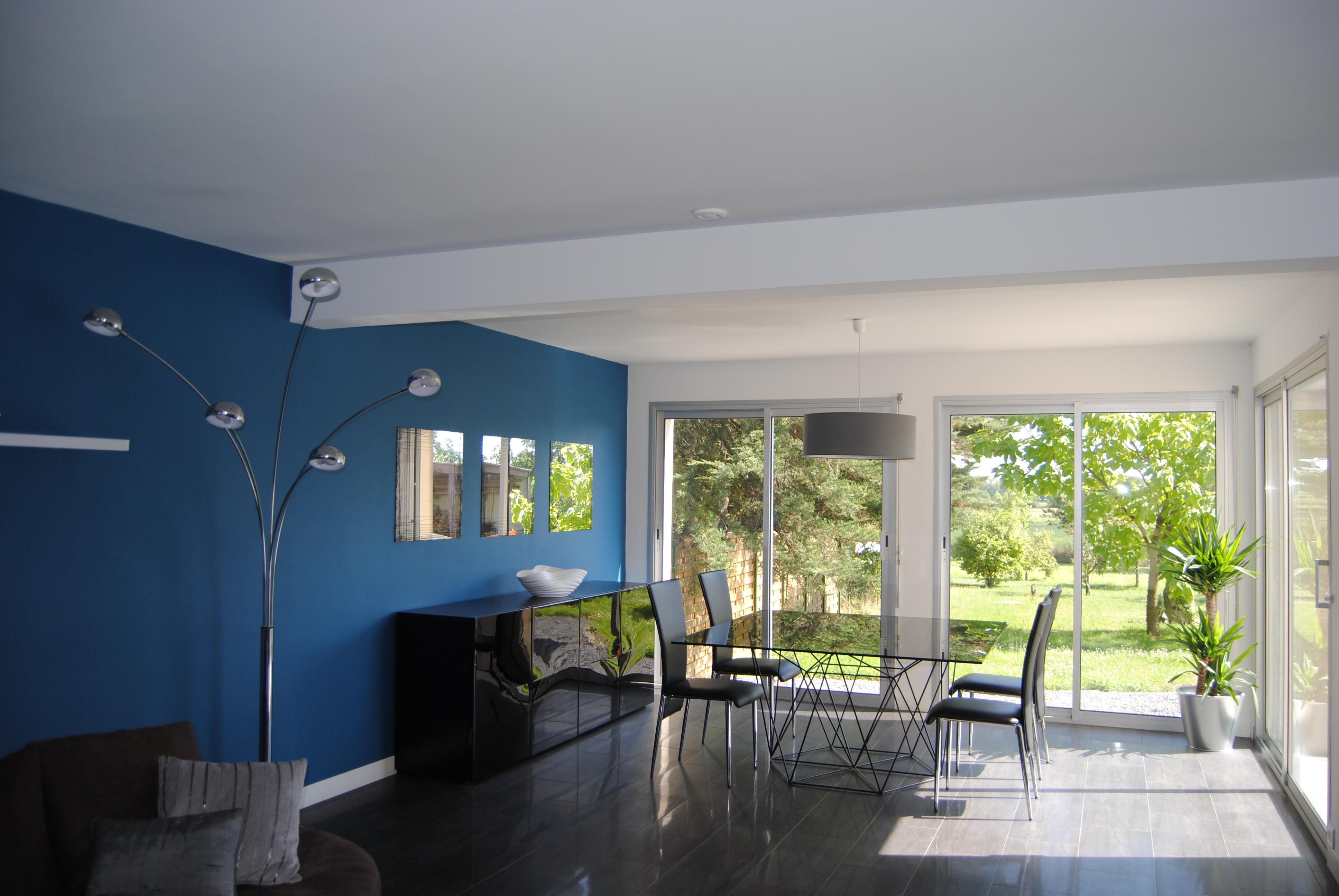 peinture bleu canard dans mon séjour... j\'ai osé! (photo ...
