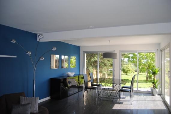 partie salle manger - Bleu Attu Salon