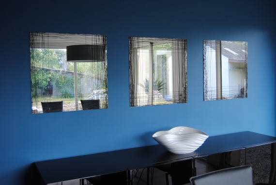 Decor salon simple for Acheter peinture bleu canard