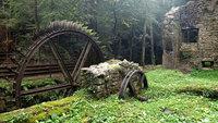 Un moulin abandonné en France