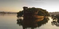 Les restes du SS Ayrfield en Australie dans la baie de HomeBush