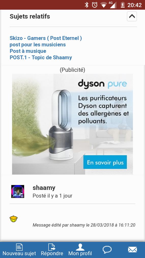 Aspire les allergènes - Tyson M