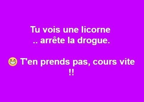licorne - fuir