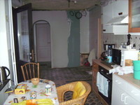 prolongement cuisine et petit hall vers wc et salle de bain