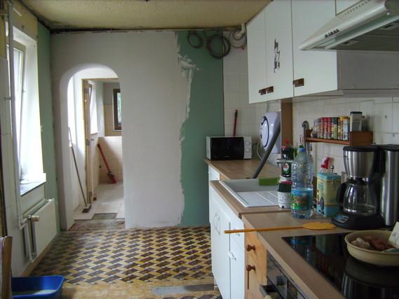 Vue de la cuisine pendant travaux