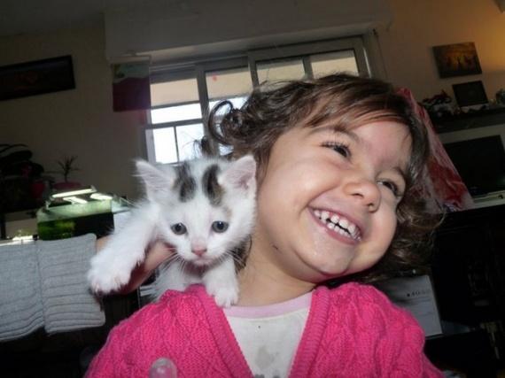 Nuage avec ma fille Elena