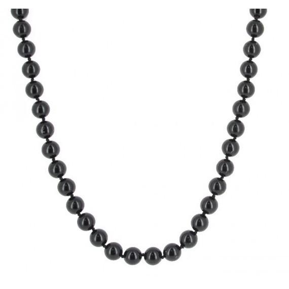 collier-sautoir-perles-de-verres-noires