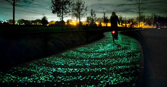 piste cyclable lumineuse