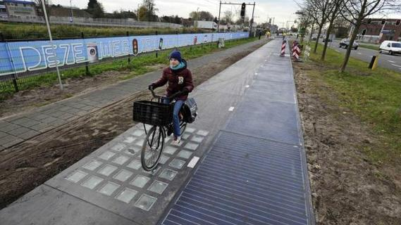 piste cyclable solaire