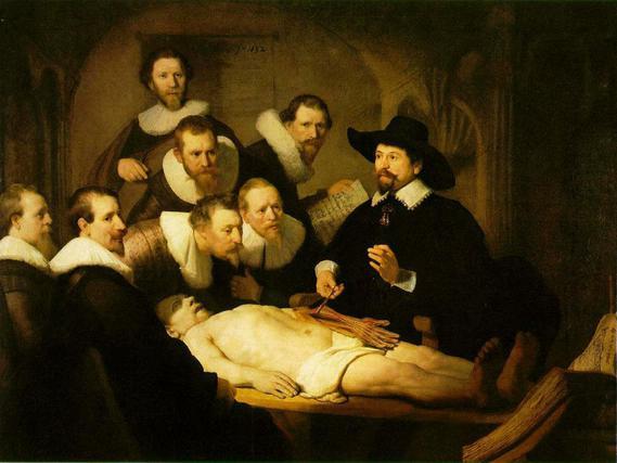 Rembrandt La leçon d'anatomie du docteur Tulp