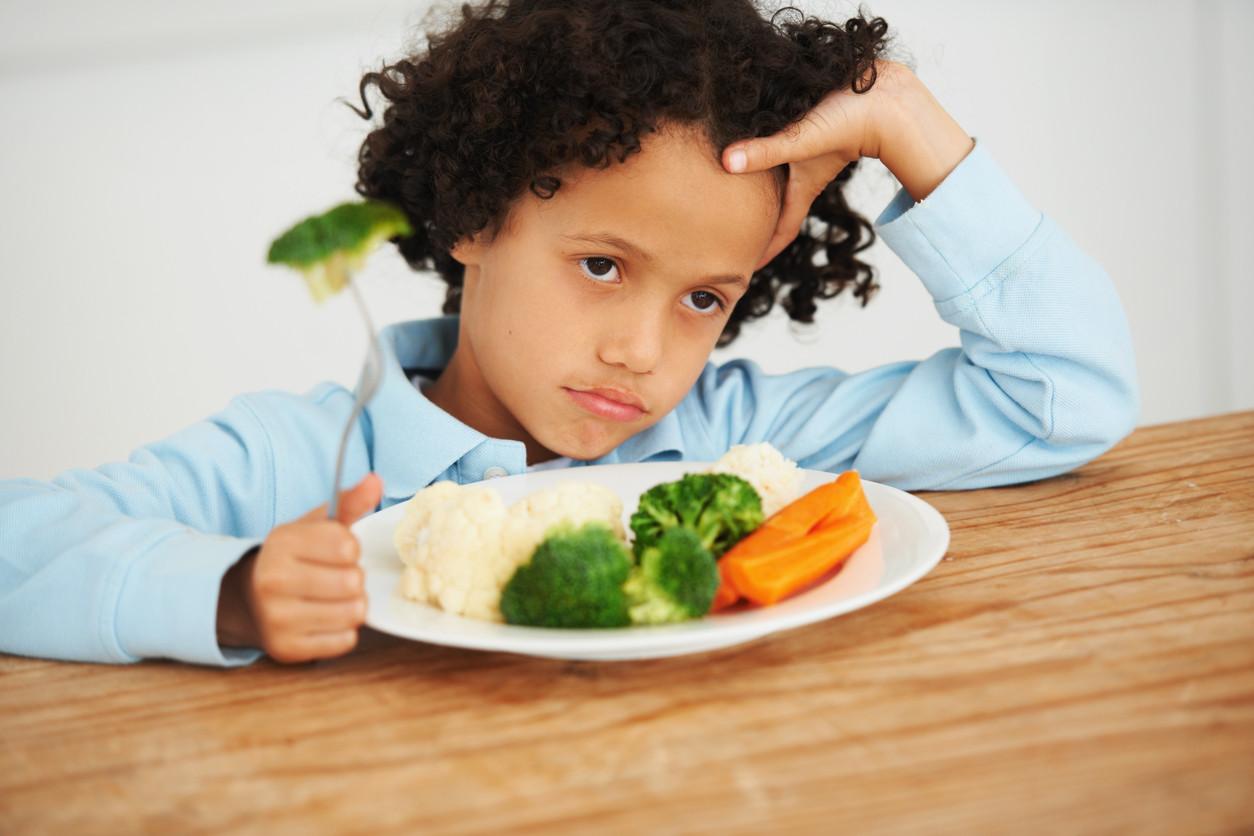 Faire manger des légumes à des enfants