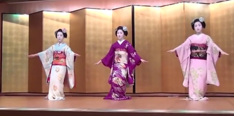 Traditional geisha dance