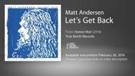 Matt Andersen- Lets Get Back