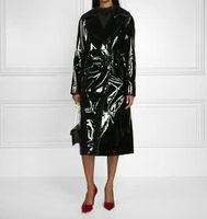 Net à porter Patent-leather trench coat