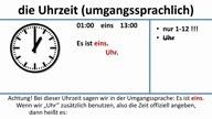 Die Uhrzeit (umgangssprachlich) (deutsche Untertitel)